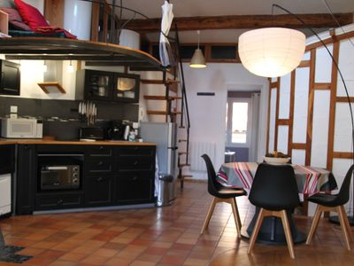 Photo for Large bright 2 rooms in the typical high area of Sète