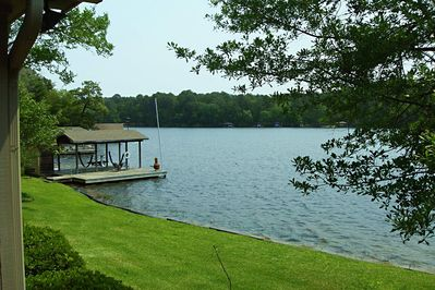 Lake Greenbriar & view of the dock.