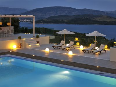 Photo for Fantastic modern 6-bedroom villa near Agios Stefanos with cook included