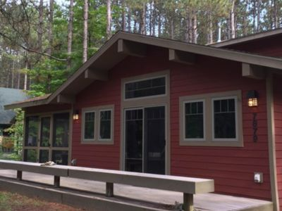 Photo for Family-friendly rustic cabin next to the slopes of Crystal Mountain!