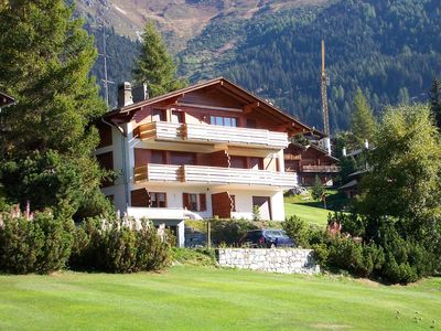 """Photo for 2 Bedroom apartment *** - 1st floor – next to the ski lift and golf """"Les Moulins""""  – sunny balcony w"""