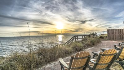 """Photo for """"Cypress Beach"""" Gulf Front House + Carriage House, Sleeps 21! Spa, Pool,Elevator"""