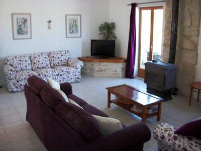 Photo for Family friendly 4 bed house, sleeps 10. Heated pool and splash pool, wi-fi UK TV