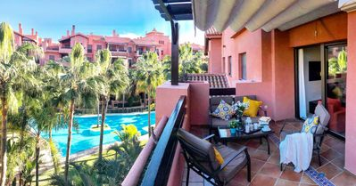Photo for Sunny Apartment Tropical Coast, Granada by the beach and golf course.