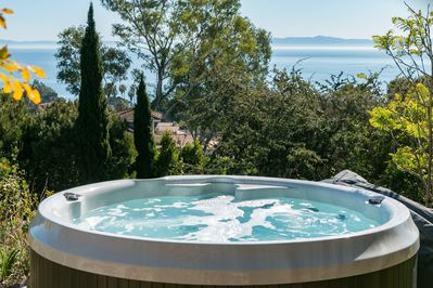 Hot Tub - Take in the panoramic coastal views from the private hot tub.