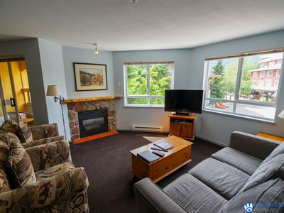 Photo for On Village Stroll, Walking Distance to Everything. A/C, Balcony, Fireplace