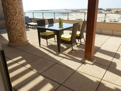 Photo for Marfolin 27. El Cotillo, Fuerteventura. Beach front apartment with sea views