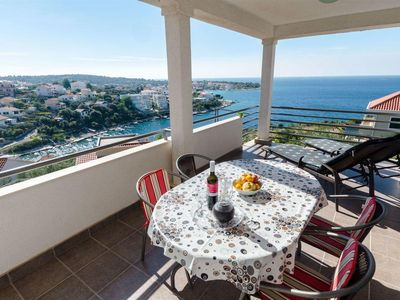 Photo for One bedroom apartment with terrace and sea view Kanica, Rogoznica (A-16189-b)