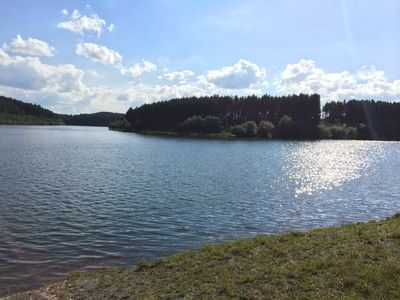Photo for Modern equipped holiday home with fenced plot and private pond