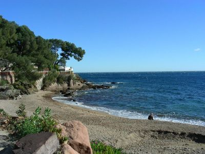 Photo for Small studio villa on a private estate, panoramic sea views 300 m from the beach