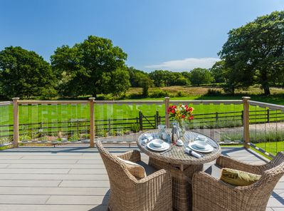 Enjoy Breakfast Service on your private dining deck