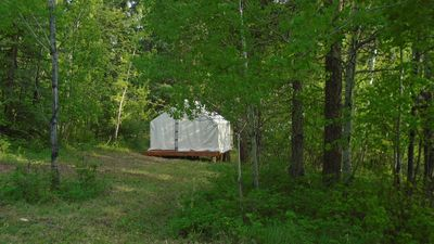 Photo for Mountain Man Wall Tent campsite 5 Caribou Trail Wagon Camp