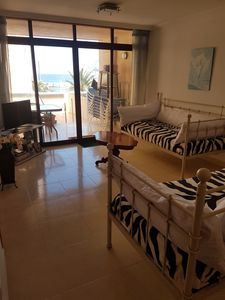 Photo for Apartment with pool Calpe sea front,large balcony, Northern Costa Blanca, Spain