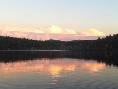 Photo for Classic Adirondack retreat nestled on the shores of private Augur Lake
