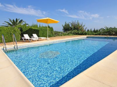 Photo for 3 bedroom Villa, sleeps 7 in Calpe with Pool, Air Con and WiFi