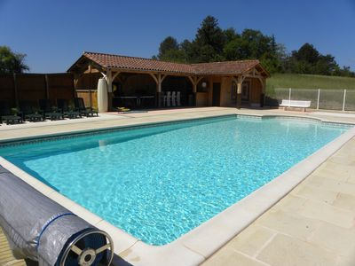Photo for Peaceful But Centrally Located Dordogne Farmhouse with private heated pool..