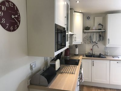 open-plan kitchen with all the mod cons
