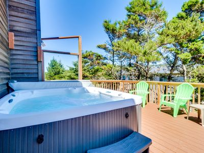 Photo for Dog-friendly house w/ ocean views, hot tub, arcade machine, & easy beach access!