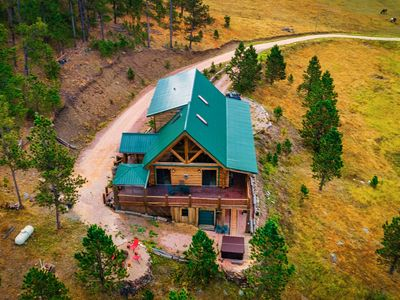 Photo for Black Hills Getaway- Alpine Prairie Lodge-  Beautiful Log Cabin on 8 acres.