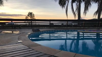 Photo for House in condominium with spectacular view of the sea in a beautiful beach of SP