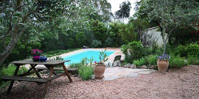 Photo for Ground floor 70m² villa with swimming pool and beaches 5 min