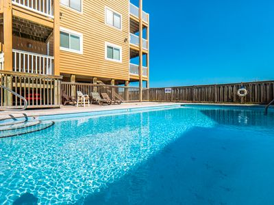 Photo for Sand Pebbles: Ocean Front Condo with deck and 2 swimming pools in Carolina Beach