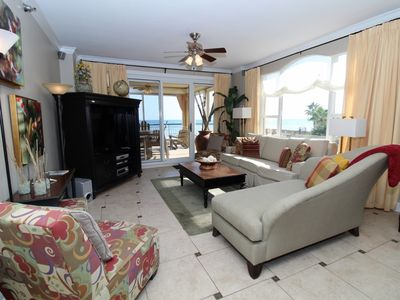 Photo for Beach Colony West 2D- Beach Front unit with large terrace & amazing views!