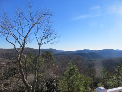 NC Moutain Lodge with Panoramic Views:  Pisgah Mtn to the North,