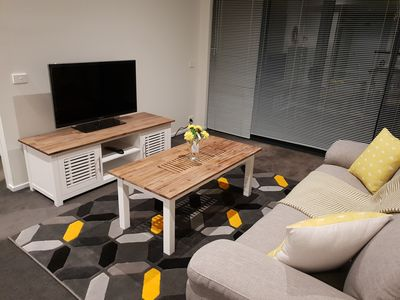 Photo for Stunning 2 Bedroom Luxury Melbourne Apartment with Onsite Parking & Internet