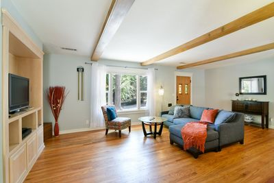 The home is a short walk to downtown but it has a great rustic feel