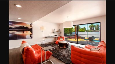 Photo for STUNNING MODERN MID-CENTURY HOME NEXT TO EL PASEO!!
