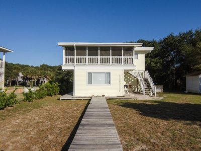 Photo for Davis - Small Beach Front Cottage With Screened Porch