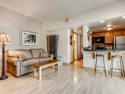 Photo for Lux Remodeled 1BR w/ Hot Tub, Sauna & Pool - Walk to Free Ski Shuttle Bus