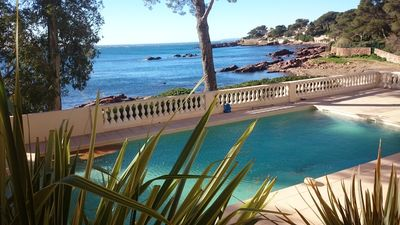 Photo for 4-Person apartment, water at your feet, at St-Raphaël. Pool
