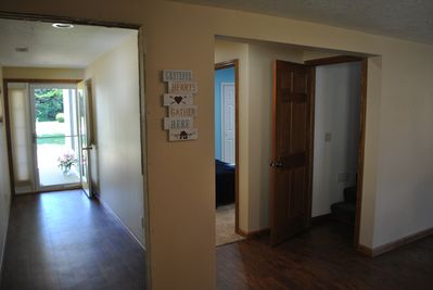 Entry way and stairs up to upper loft bedroom