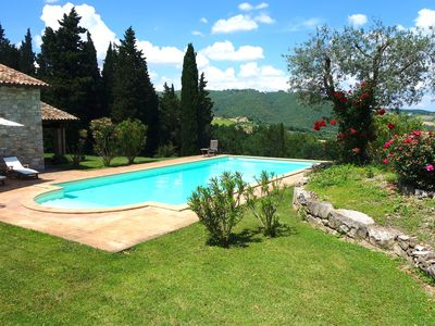 Photo for Villa in Umbria with private pool and fantastic view - sleeps 8 + 1