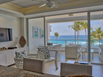 Photo for Lush Beachfront Two Bedrooms Apartment (425)