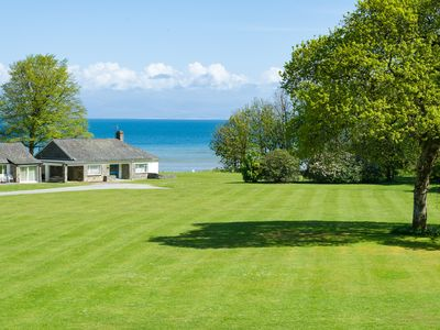 Photo for Desirably located on the Glyn y Weddw estate in lower Llanbedrog and enjoying lovely sea views this