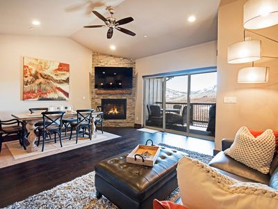 Photo for Luxe Brand-New Mountain-View 3BR w/ Private Hot Tub & Home Theater