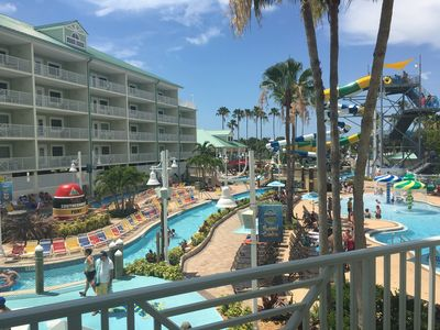 Photo for Waterpark 2bd/2ba Rare Double Balcony Suite + 4 Free Daily Waterpark Passes!