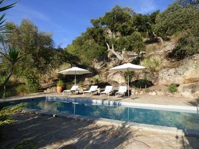 Photo for Magical atmosphere in pure nature, a family holiday house with great pool