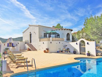 Photo for Villa with private pool and fantastic views of the Montgo and Javea