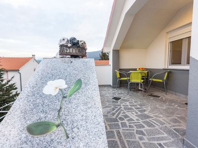 Photo for Apartment Orhideja in Gornji Karin with internet, air conditioning, parking, terrace