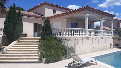 Photo for Very beautiful villa any comfort with swimming pool on nice sported ground