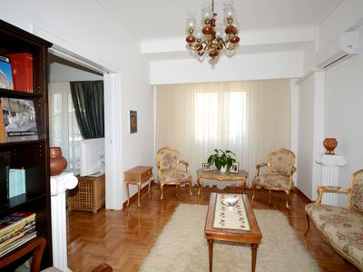 Photo for Athenian Apartment is an authentic Greek apartment 1 min from the metro.