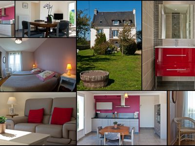 Photo for Beautiful new apartment on the ground floor of a house close to Carnac