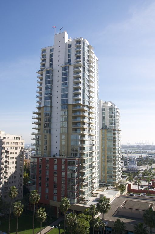 Premier downtown Long Beach luxury  highrise 2 bdr 2 bath condo