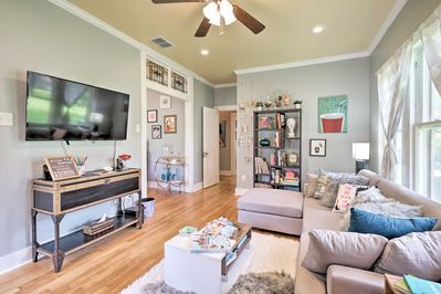 The 3-bedroom, 2-bath home has accommodations for 6 guests to stay in comfort.