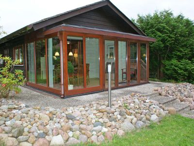 Photo for Log cabin with W-LAN and large winter garden - Log cabin with W-LAN and modern equipment