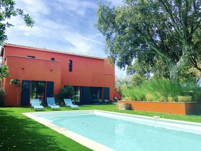 Photo for Hacienda - 150 meters from the beach and the golf of Beauvallon Saint Tropez